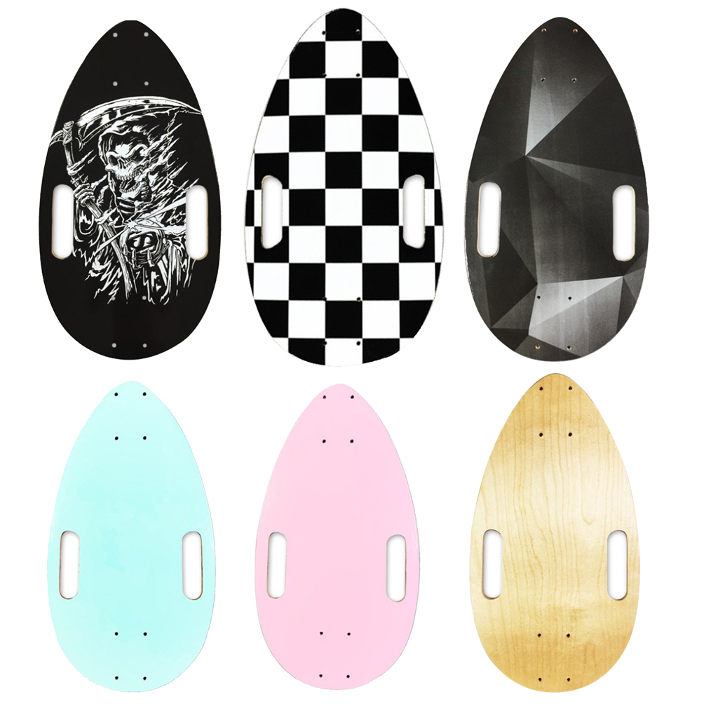 Mini Skateboards Pro Blank Skate Deck DIY Parts For Kids Birthday Gifts - 44x25cm - 6 Colors Available
