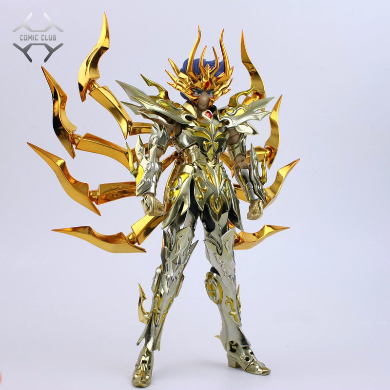 COMIC <font><b>CLUB</b></font> IN-STOCK GT great toys sog <font><b>ex</b></font> cancer Death Mask Soul of Gold <font><b>Saint</b></font> <font><b>Seiya</b></font> <font><b>Metal</b></font> Armor <font><b>Myth</b></font> <font><b>Cloth</b></font> Gold Action Figure image