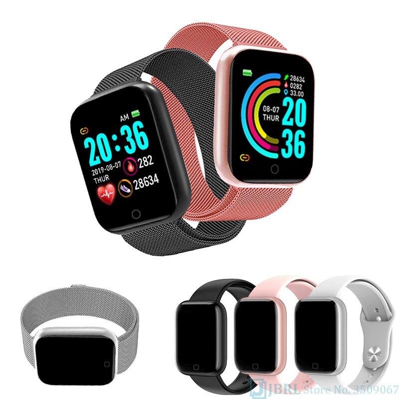 Relógio de Pulso Relógio de Luxo Nova Moda Praça Relógio Inteligente Feminino Masculino Esporte Eletrônico Senhora Aço Inoxidável Smartver
