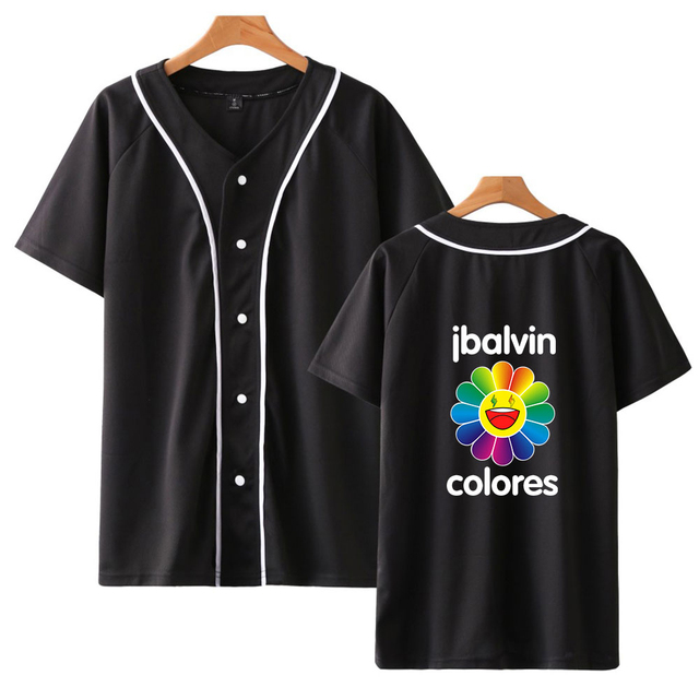 J BALVIN THEMED BASEBALL T-SHIRT (10 VARIAN)