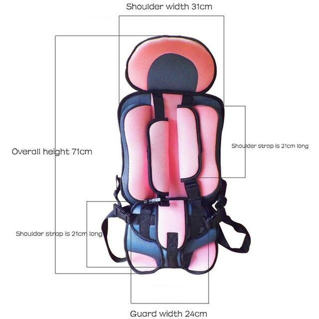 Asiento de seguridad para bebé Childseat, asiento de seguridad para bebés pequeños, asiento de seguridad de coche, sillas de bebé, cojín de esponja gruesa para coche para niños asientos del cochecito