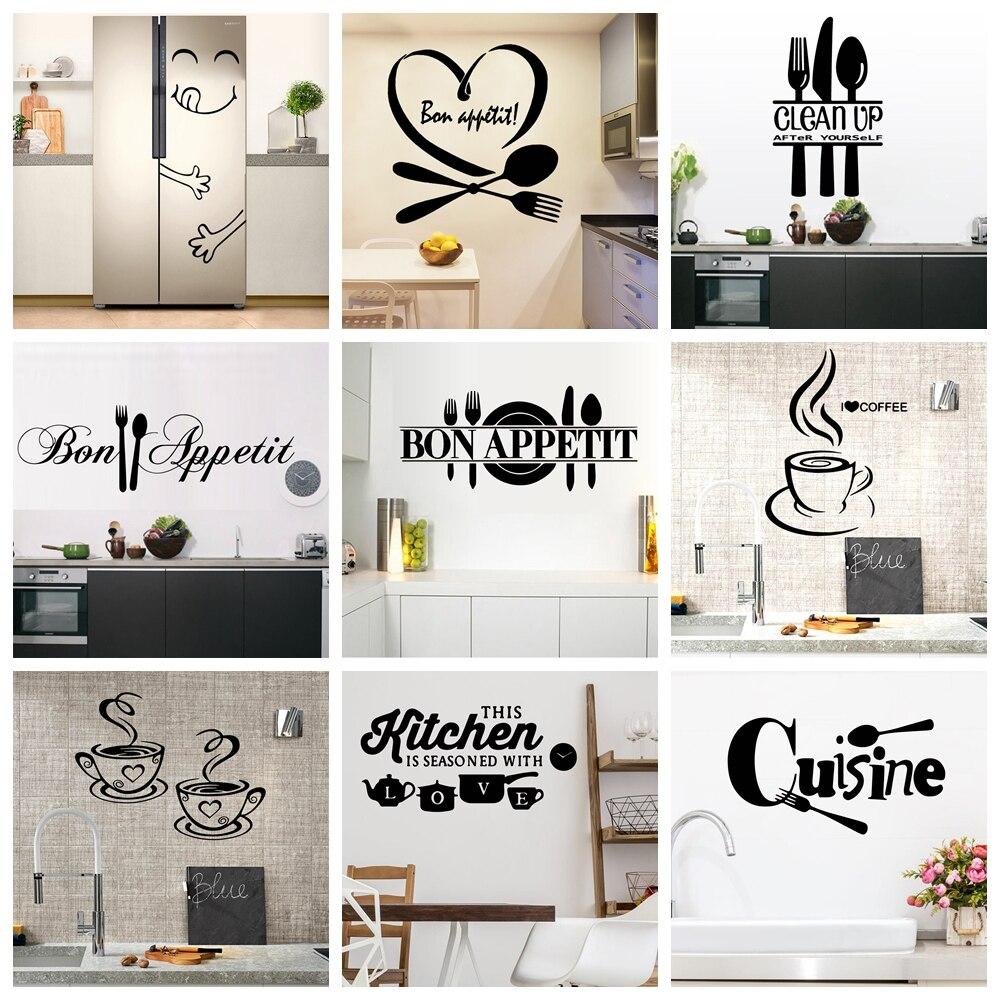 22 stilleri büyük mutfak duvar sticker ev dekor çıkartmaları vinil çıkartmalar için seramik karo aksesuarları duvar duvar kağıdı posteri