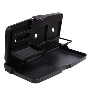 Image 4 - Universal Auto Tasse Halter Organizer Auto Vordersitz Zurück Tisch Getränke Folding Cup Holder Stand Schreibtisch Schwarz Trays