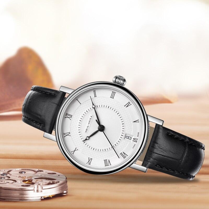 2019 Seagull Couple Watch Fashion Business Automatic Mechanical Watch Waterproof Steel Belt Watch 819.11.6022 Birthday Gift