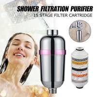 15 filtro de chuveiro do banheiro filtro de água de banho purificador de água tratamento de saúde amaciante remoção de cloro purificador de água Filtros de água     -