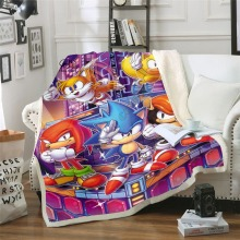 Anime Super Sonic Blanket Design Flannel Fleece Blanket Printed Children Warm Bed Throw Blanket Kids Blanket style-3