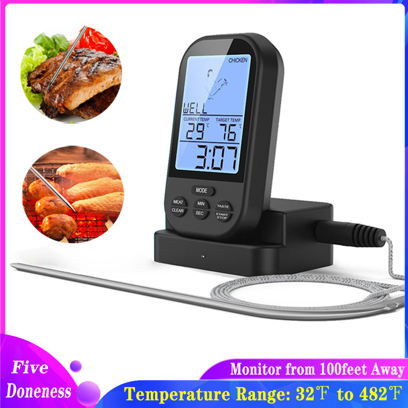 Smoker Oven-Grill Digital Cooking Kitchen Wireless BBQ for with Timer-Included Food-Probe