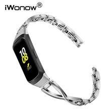 iWonow Diamond & Stainless Steel Watchband for Samsung Galaxy Fit SM-R370 Jewelry