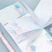 80pcs/pack Kawaii Floded Memo Pad foldable note paper Paste Creative Notepad New School Supplies