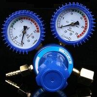 Medidor de oxígeno y acetileno a prueba de golpes  medidor de alivio de presión  válvula de Gas para botella  medidor de argón  regulador de presión de acetileno