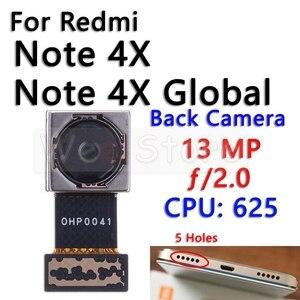 Image 4 - Küçük ön ve ana büyük arka arka kamera Flex kablo Xiaomi Redmi için not 4 4A 4X Pro küresel kamera flex