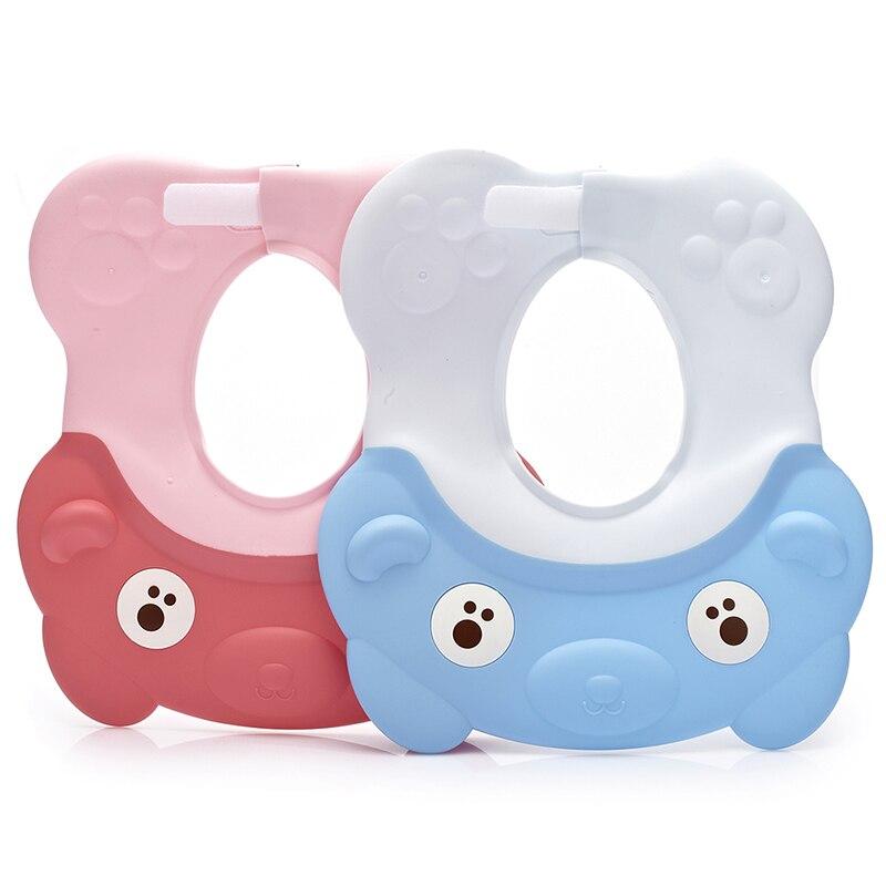 Lovely Adjustable Baby Hat Toddler Kids Shampoo Bathing Shower Cap Wash Hair Visor Caps For Baby Care