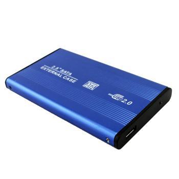 Caja de disco duro móvil para HDD SSD, de 2,5 pulgadas, USB 2,0 a SATA, soporta 3TB, carcasa de aleación de aluminio para disco duro