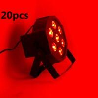 20 stücke/7x12W LED Flach SlimPar Quad Licht 4in1 LED DJ dmx licht Waschen Licht Bühne uplighting Kein Lärm dmx dj licht 20 stücke/lot