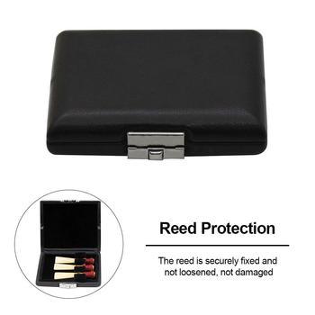 2020 nowy czarny PU Leather obój Reed Storage Box Case wodoodporne stroiki Protector Musical obudowa na urządzenie akcesoria do toreb tanie i dobre opinie
