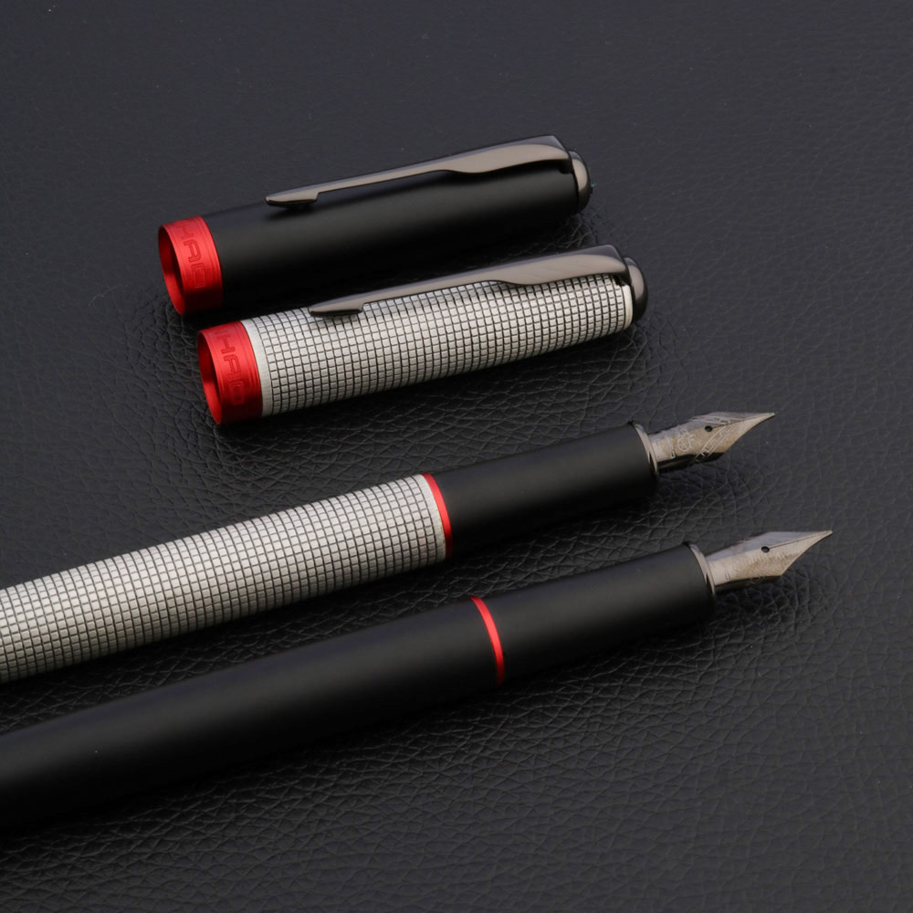 JINHAO 75 Checkered Grab Ash Flush Feather Arrow Tungsten Steel Nib Classic Iridium Pen Fountain Pen