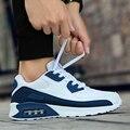 Мужские кроссовки с воздушной подушкой  дышащие кроссовки на шнуровке  повседневная обувь для прогулок  Tenis Feminino  2019