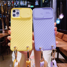 Crossbody chain rope Lanyard Lens Slide Camera Protect Phone Case for iPhone 12 Pro 11 PRO MAX XR X XS SE 2020 6s 7 8 PLUS cover