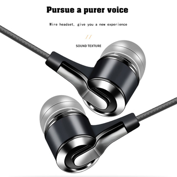 Xnyocn Earphones 3.5mm In-Ear 1.2m Wired Control Sport Headset Wired Headphones For Huawei Honor Smartphone With Microphone 5
