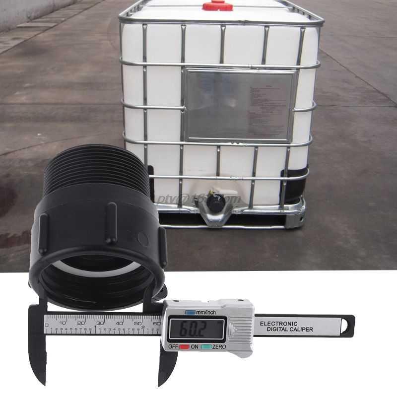 """1000L IBC Tote tank Garten Schlauch heavy duty BSP adapter fässer ventil teile S60x6 Weibliche Buttress x 2 """"Männlich NPT Rohr"""