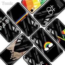 Lesbian Lesbian Rainbow Tempered Glass Case untuk Apple Iphone XR 7 8 6 6S Plus 11 Pro X XS MAX Lembut Ponsel Ponsel Bag Cover(China)