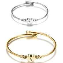 Fashion generous letter bracelet Titanium steel love Tourism commemorative ladies