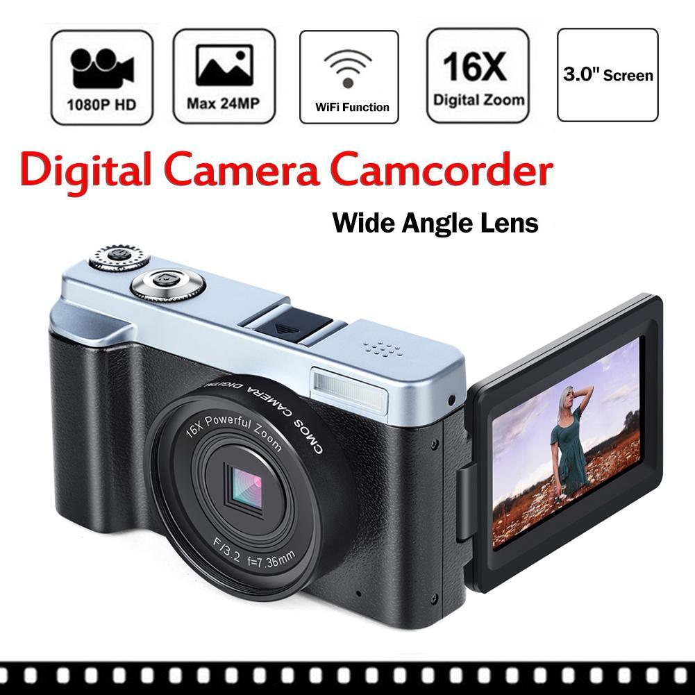 KOMERY, Новое поступление, цифровая камера 3,0 дюймов, ЖК дисплей, флип экран, 4 K, видеокамера, 16X, цифровой зум, поддержка Wi Fi, HD выход, селфи камера - 2
