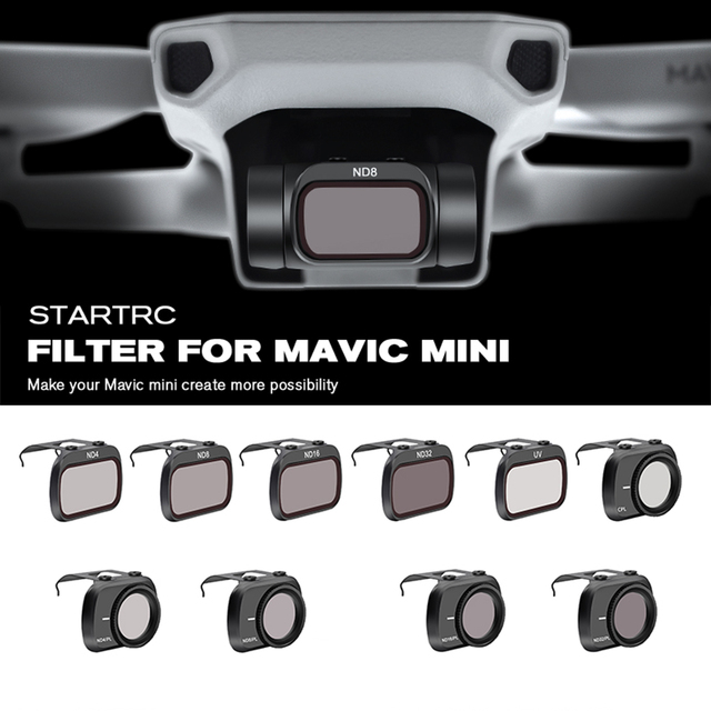 STARTRC Mavic Mini obiektyw ND4/ND8/ND16/ND32/MCUV/CPL zestaw filtr dla Mavic Mini Drone obiektyw ND8 ND16 ND32 ND64 PL zestaw akcesoriów