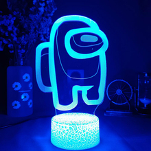 Game Among Us Lamp 16 Colors 3D Night Light LED Touch Sensor Lights Home Desktop Decor Atmosphere Lamps Holiday Children Gift