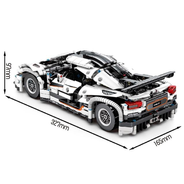 MOC 1275pcs Classic City Sports Car Building Block Model High-Tech Speed Roadster Kid Toy Assembled DIY Bricks birthday Gifts 2