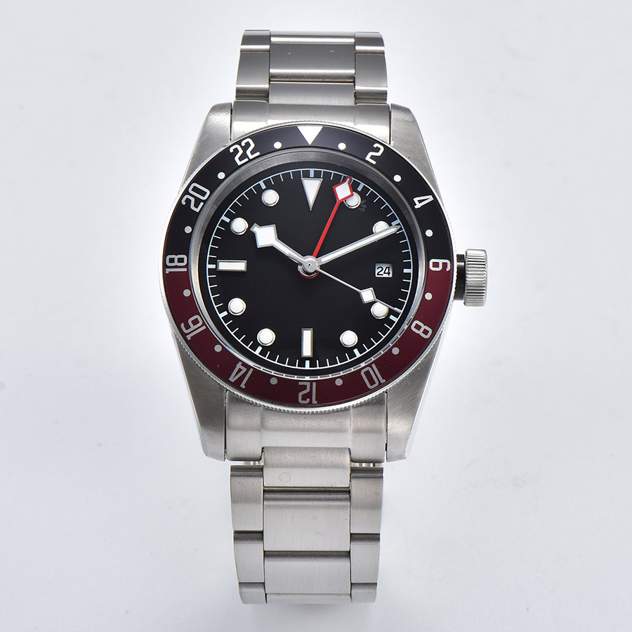 watch men GMT automatic mechanical watch Luminous date waterproof 316L Solid stainless steel 41MM DT47