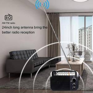 Image 4 - Retekess TR604 FM/AM 2 להקת נייד רדיו AC מופעל נטענת מקלט עם 3.5mm אוזניות שקע קשישים