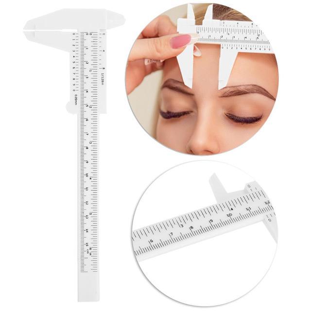 3 قطعة قابل للتعديل الوشم الحاجب حاكم العين الحاجب قياس التوازن تمديد حاكم شكل Stencil العين الوشم الورنية الفرجار قالب