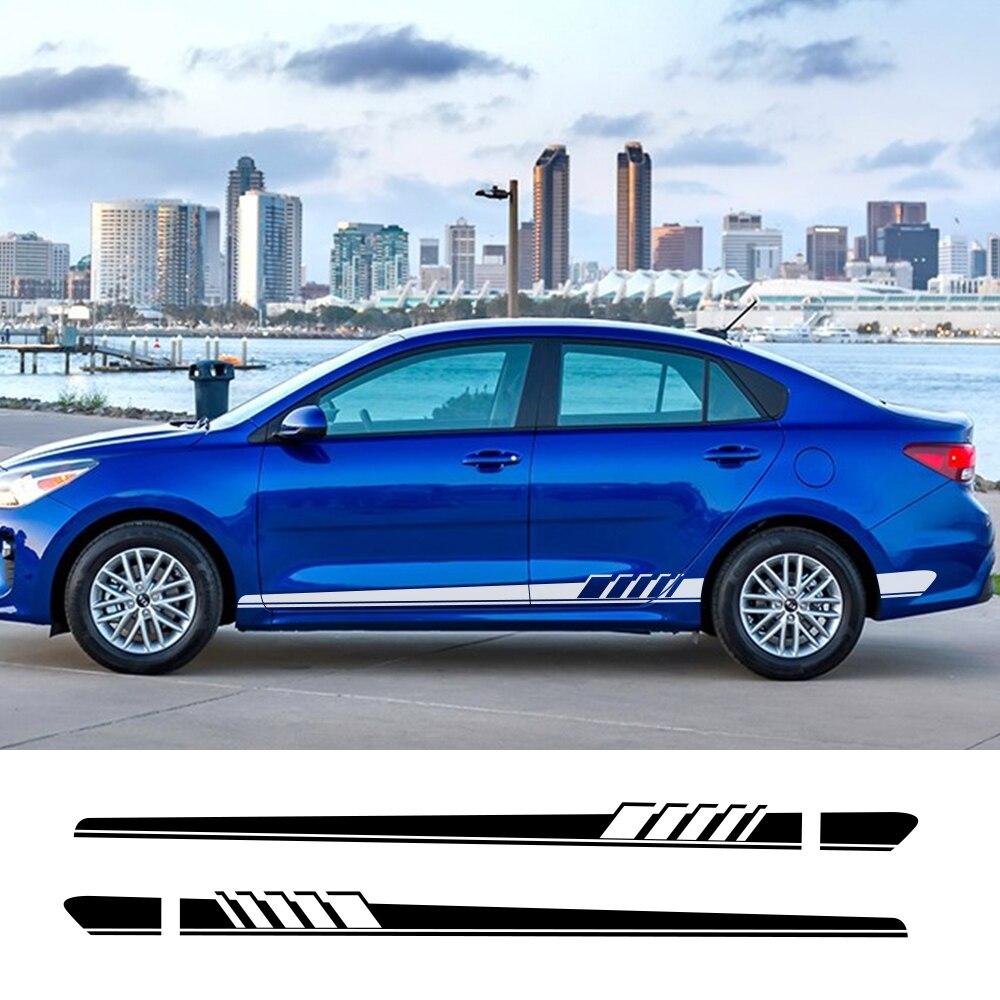 2Pcs Car Side Stickers For Kia Sportage 3 4 QL Rio 3 K2 Optima Sorento Picanto Ceed Forte Cadenza K9 Soul Car Tuning Accessories(China)