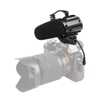SR-PMIC3 Surround Recording Microphone with Integrated Shockmount Low-Cut Filter for DSLR Cameras Camcorders