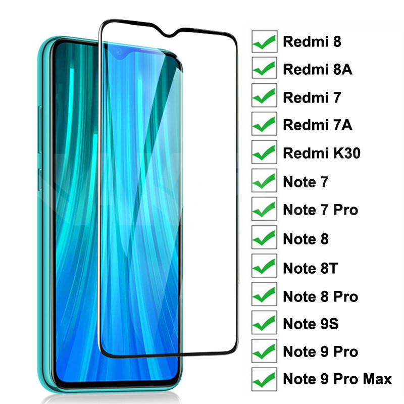 9D Full Protective Glass On For Xiaomi Redmi 8 8A 7 7A K30 Redmi Note 7 8 8T 9S 9 Pro Max Tempered Screen Protector Glass Film