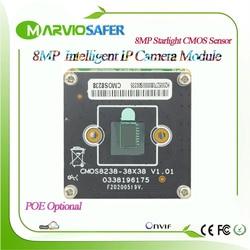 H.265/H.H.264 8MP 4K UHD 3840*2160 IP POE kamera sieciowa płyta modułu uaktualnić swój System bezpieczeństwa CCTV  Alarm dźwiękowy  Onvif RTSP