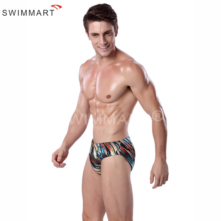 Europe And America Men Triangular Swimming Trunks Printed Ultra-stretch Swimming Cloth Swimming Trunks Europe And America Fashio