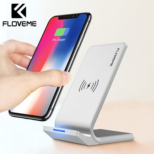 FLOVEME Universal Qi Wireless Charger For iPhone X XS XR 10W Fast Charger USB Wireless Charging For Samsung Galaxy S8 S9 Note 8 1