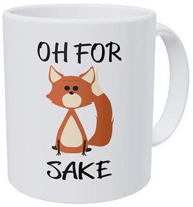 Oh for Fox Sake 11 Ounces Ceramic Coffee Mug(China)