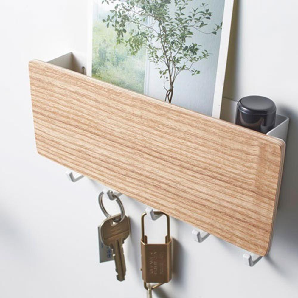 Wall Hook Home And Living PC And ABS Material Wall-mounted Organizer With 5 Hooks Keys Holder