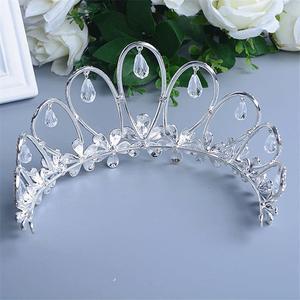 Image 4 - Cristallo Corona Diadema di Gioielli Testa Accessori Per Capelli Diadema Mariage Bijoux De Tete Cheveux Corona Casamento WIGO0719