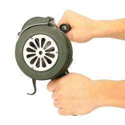 Korba ręczna syrena alarmowa 110dB ręczny metalowy Alarm powietrzny Raid bezpieczeństwo w razie wypadku PR sprzedaż|Przyciski alarmu awaryjnego|   -