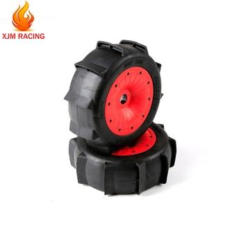 Sand Paddle Desert Wheel Tyre with Beadlock Ring Set for 1/5 Losi 5ive- T Rofun Rovan LT KM X2 BAJA 4WD SLT Rc Car Toys Parts