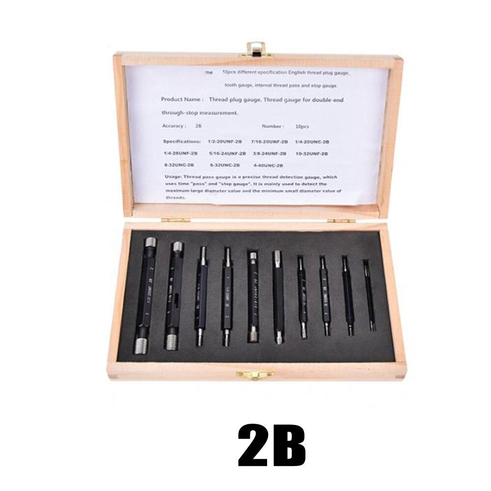 10 шт. набор измерительных резьбовых шнековых вилок метрические имперские двухконцевые инструменты для анализа и измерений инструмент для