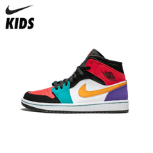 Nike Air Jordan 1 Original New Arrival Kids Shoes Breathable Children Basketball Shoes Outdoor Sports Sneakers #640734-125 original new arrival authentic air jordan future mens basketball shoes sneakers 656503 sport outdoor breathable