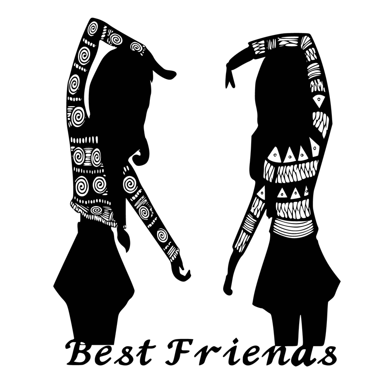 DiyArts 2 Girls Dies Best Friends Metal Cutting Dies Scrapbooking New 2019 for Card Making Embossing Die Cut Stencil Craft Dies