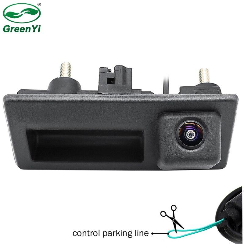 HD Starlight Night Vision MCCD Fisheye Lens Car Rear View Trunk Handle Camera For Audi VW Passat Tiguan Golf Jetta Sharan Caddy