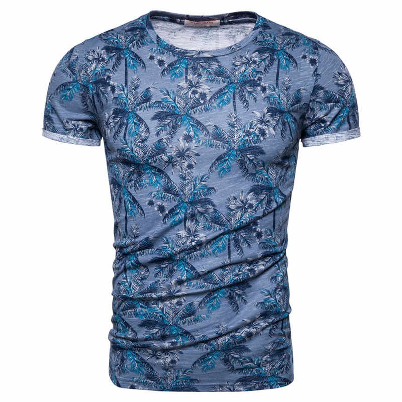 2020 nuovo di Estate 100% Della Stampa di Cotone T-Shirt Da Uomo casual Hawaii Style Uomo T Shirt O-Collo della Maglietta Degli Uomini di Alta-qualità disegno Magliette e camicette Magliette