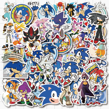 VANMAXX 50 PCS Sonic The Hedgehog Sonic Game Stickers Waterproof PVC Decal for Laptop